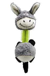 Brinquedo pelucia burrinho com mordedor - Savana - 32x9cm