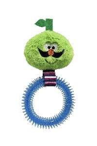 Brinquedo pelucia fruta bigode com mordedor - Savana - 27x14cm