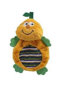 Brinquedo pelucia fruta feliz com mordedor - Savana - 27x19,5cm