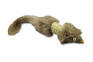 Brinquedo pelucia ratinho com sisal - Savana - 30x4cm