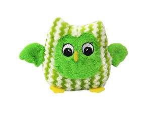 Brinquedo pelucia coruja sonora verde - Savana - 17,8cm
