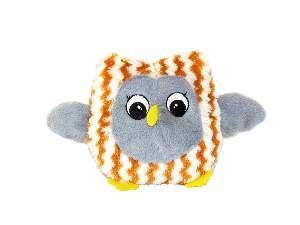 Brinquedo pelucia coruja sonora cinza - Savana - 17,8cm