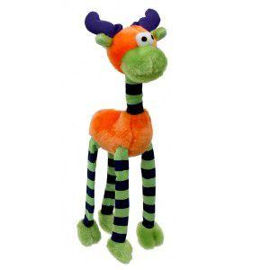 Brinquedo pelucia alce sonoro laranja - Savana - 50x15x8cm