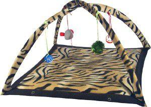 Brinquedo pelucia e metal tenda para gatos - Chalesco - 59x58x33cm