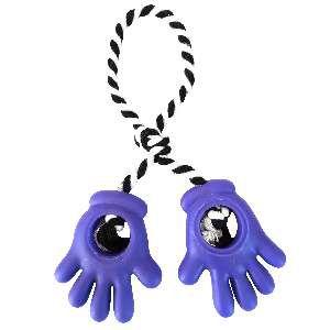 Brinquedo vinil maozinha dupla com corda - Club Pet Nicotoys - 27x9,5cm