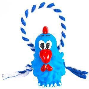 Brinquedo vinil galinha com corda - Club Pet Nicotoys - 22x9cm