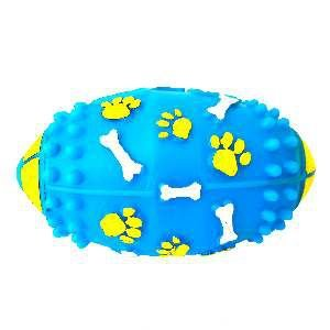 Brinquedo vinil bola futebol americano big - Club Pet Nicotoys - 20x10,5cm