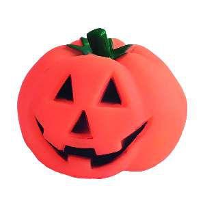 Brinquedo vinil abobora halloween - Home Pet - 8cm