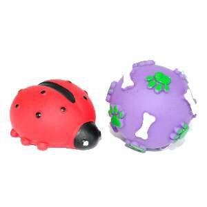 Brinquedo vinil bola pata osso com joaninha - Club Pet Nicotoys - 12x12cm