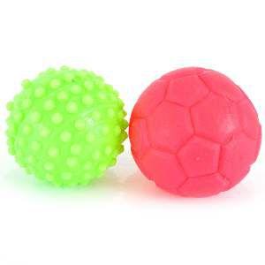 Brinquedo vinil bolas mini cravo e futebol - Club Pet Nicotoys - 12x12cm