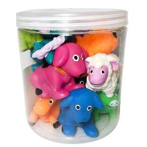 Brinquedo vinil fazendinha - Club Pet Nicotoys - com 12 unidades - 15x14cm