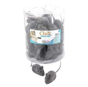 Brinquedo vinil ratinho - Club Pet Import - pote com 50 unidades - 6,5cm