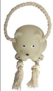 Brinquedo vinil urso baby com corda - Club Pet Nicotoys - 16x6,5cm