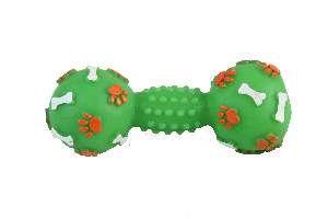 Brinquedo vinil halteres pata osso pequeno - Club Pet Nicotoys - 14,5x6cm