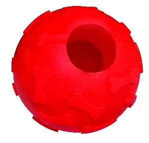 Brinquedo vinil bola snack com corda - Club Pet Nicotoys - 26x6,5cm