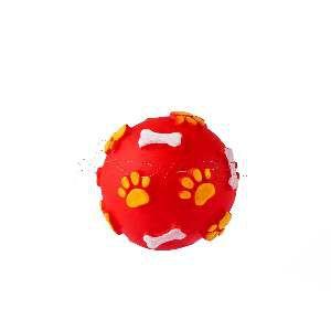 Brinquedo vinil bola pata osso PP - Club Pet Nicotoys - 5,5cm