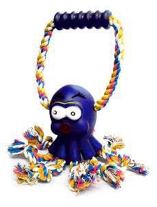 Brinquedo vinil polvo com corda e puxador - American Pet's - 8x6cm