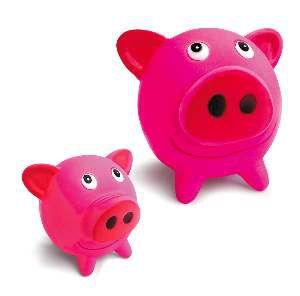 Brinquedo vinil porquinho - American Pet's - com 6 unidades - 9x9x10cm