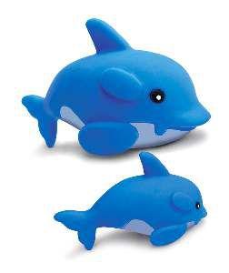 Brinquedo vinil golfinho - American Pet's - com 6 unidades - 7x9x13cm