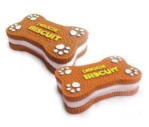 Brinquedo vinil biscoito - American Pet's - com 6 unidades - 7,5x12x3cm