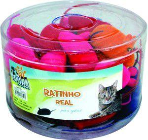 Brinquedo vinil ratinho colorido - Savana - pote com 24 unidades - 6,5cm