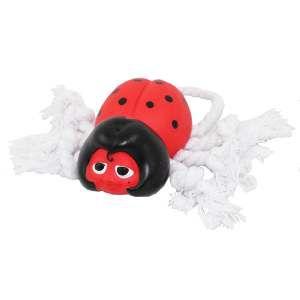 Brinquedo vinil joaninha com corda - Club Pet Nicotoys - 24x8cm