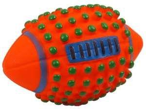 Brinquedo vinil bola futebol americano - Club Pet Nicotoys - 11x8cm