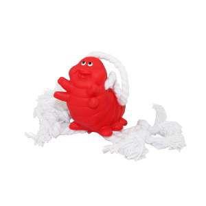 Brinquedo vinil lagarta baby com corda - Club Pet Nicotoys - 19x4,5cm