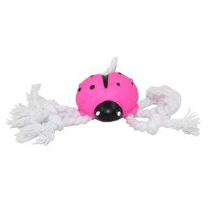 Brinquedo vinil joaninha baby com corda - Club Pet Nicotoys - 19x5,5cm