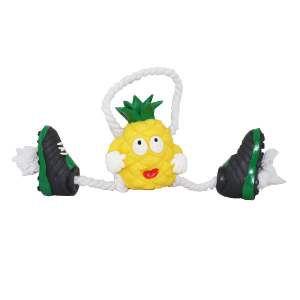 Brinquedo vinil abacaxi com chuteira - Club Pet Nicotoys - 35x14cm