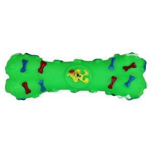 Brinquedo vinil halteres ossinho - Napi - 16cm