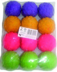 Brinquedo vinil bola pata/osso - Luna & Arreche - com 12 unidades - 6cm