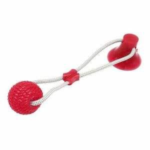 Brinquedo TPR bite toy com ventosa vermelho - Club Pet Maxx - 17cm