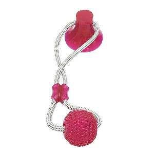 Brinquedo TPR bite toy com ventosa rosa - Club Pet Maxx - 17cm