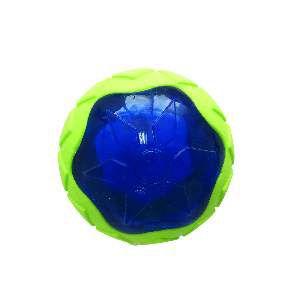 Brinquedo TPR bola com luz cores diversas - Home Pet - 11x10cm