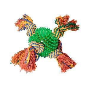 Brinquedo TPR Bola com Corda - Home Pet - 7 cm
