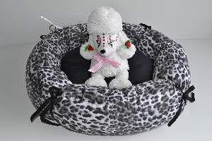 Cama tecido redonda com lacos G - Club Pet Chickao - 71x24cm