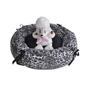 Cama tecido redonda com lacos P - Club Pet Chickao - 51x20cm