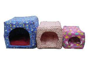 Cama tricoline tunel - Club Pet Chickao - com 3 unidades