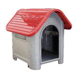 Casa plastica dog home N3 vermelha - MEC PET - 73x55x65cm