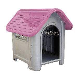 Casa plastica dog home N3 rosa - MEC PET - 73x55x65cm