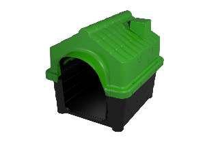 Casa plastica home class N1 verde - MEC PET - 49x40x41cm