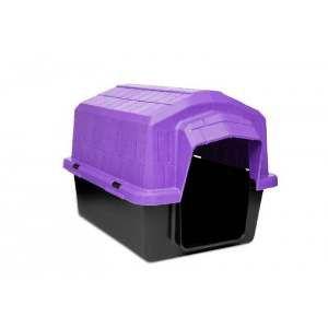 Casa plastica super resistente lilas N4 - Club Pet Alvorada - 76x57x54cm