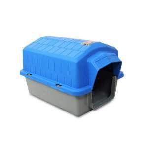 Casa plastica super resistente azul N4 - Club Pet Alvorada - 76x57x54cm