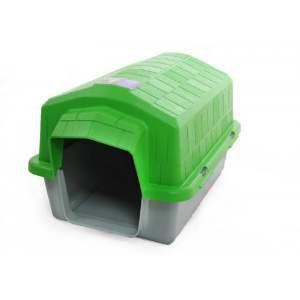 Casa plastica super resistente verde N4 - Club Pet Alvorada - 76x57x54cm