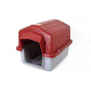Casa plastica super resistente vermelha N4 - Club Pet Alvorada - 76x57x54cm