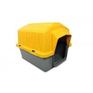 Casa plastica super resistente amarela N4 - Club Pet Alvorada - 76x57x54cm