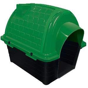 Casa plastica iglu N1 - Verde - Furacao Pet - 48x37x41cm