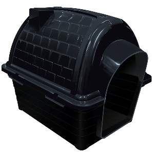 Casa plastica iglu N1 - Black - Furacao Pet - 48x37x41cm