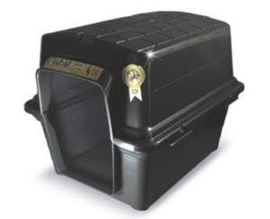 Casa plastica N4 - Black - Furacao Pet - 67x51x51cm